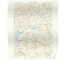 Maine USGS Historical Map Stetson 460929 1935 62500 Poster