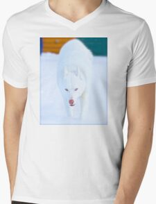 White As Snow Mens V-Neck T-Shirt