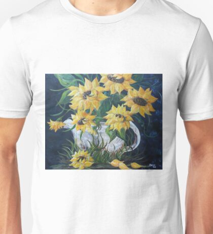 Sunflowers in a Country Pot Unisex T-Shirt