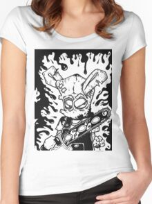Chainsaw Bunny 4 Women's Fitted Scoop T-Shirt