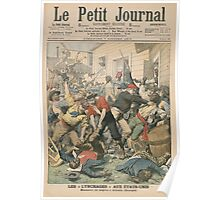 Le Petit Journal 7 Oct 1906 - 1906 Race Riot and results Poster