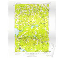 Maine USGS Historical Map Stetson 460931 1955 62500 Poster
