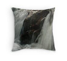 Rapids Above Turtletown Creek West Falls III Throw Pillow