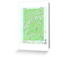 Maine USGS Historical Map Stetson 807207 1982 24000 Greeting Card