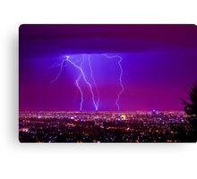 Lightning over Adelaide Canvas Print