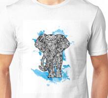 Tribal Elephant- Blue Unisex T-Shirt