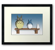Totoro Nesting Dolls Framed Print