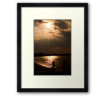 Sunset in Colonial Beach Virginia Framed Print
