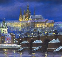 The Prague Panorama Charles Bridge Prague Castle by Yuriy Shevchuk