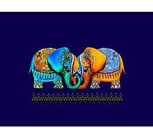 Littlest Elephant Love Links Photographic Print