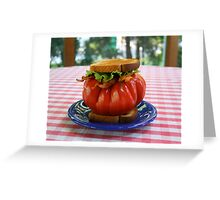 The Tomato Lover's BLT Greeting Card