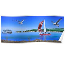 Sailing around Old Harry Poster