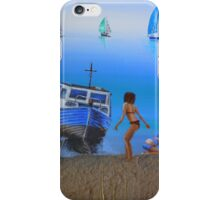 Playing on the Beach iPhone Case/Skin