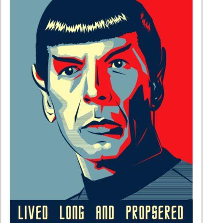 Spock - Lived long and prospered Sticker