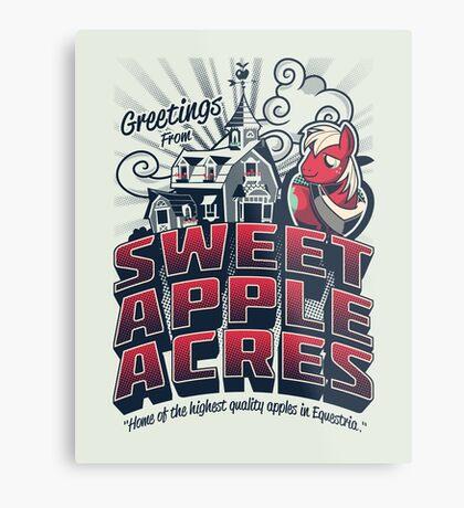 Greetings from Sweet Apple Acres - Variant Metal Print