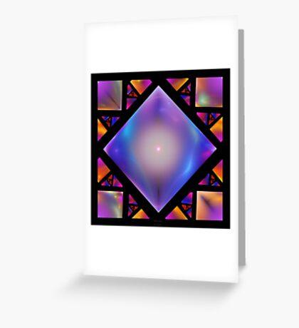 'Squares 7' Greeting Card