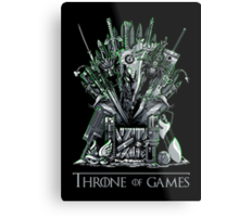 Throne of Games - You Win Or You Die - V2 Metal Print