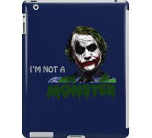 the joker - i'm not a monster iPad Case/Skin