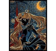 Usagi and the Starry Night Photographic Print