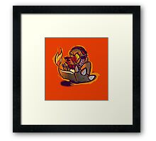 Charmander plays LSDJ Framed Print