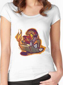 Charmander plays LSDJ Women's Fitted Scoop T-Shirt