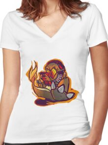 Charmander plays LSDJ Women's Fitted V-Neck T-Shirt