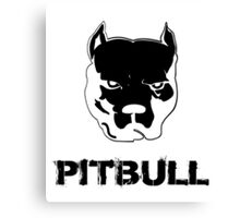 pit bull - pitbull terrier Canvas Print