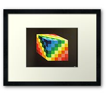 Rainbow Cube Framed Print