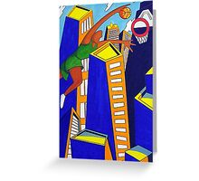 Skyscraper Dunk Greeting Card