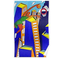 Skyscraper Dunk Poster