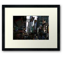 42nd Street Framed Print
