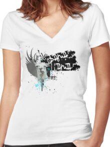 obama llama Women's Fitted V-Neck T-Shirt