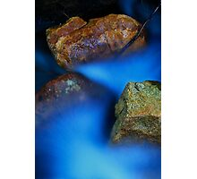Cascade in Blue Photographic Print