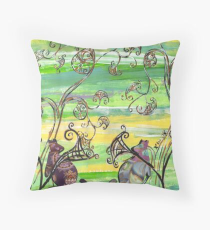 Groovy Roo's Throw Pillow