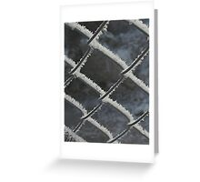 hoarfrost on chainlink Greeting Card