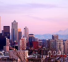 Seattle Sunset -01- by Mark Bauschke