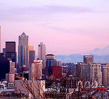 Seattle Sunset -01- by Mark Bauschke