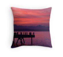 Alki Pier Throw Pillow