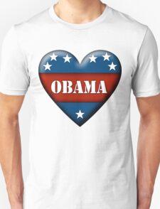 obama heart Unisex T-Shirt