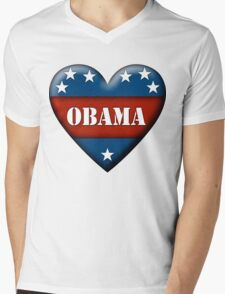 obama heart Mens V-Neck T-Shirt
