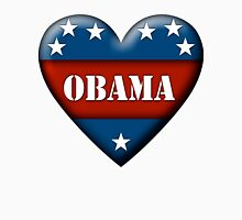 obama heart Womens Fitted T-Shirt