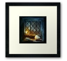Too Many Scary Stories Framed Print