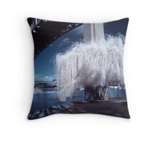 Midnight Willow Throw Pillow
