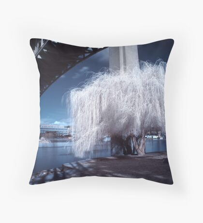 Midnight Willow Throw Pillow