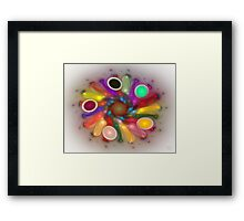 'Light Flame Abstract 286' Framed Print