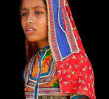 TRIBAL GIRL - INDIA by Michael Sheridan