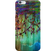 PRISMACOLOR PEARLS 1 Colorful Rainbow Watercolor Abstract Painting Blue Green Teal Red Ocean Waves Fine Art iPhone Case/Skin