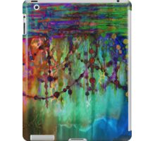 PRISMACOLOR PEARLS 1 Colorful Rainbow Watercolor Abstract Painting Blue Green Teal Red Ocean Waves Fine Art iPad Case/Skin