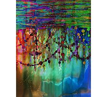 PRISMACOLOR PEARLS 1 Colorful Rainbow Watercolor Abstract Painting Blue Green Teal Red Ocean Waves Fine Art Photographic Print