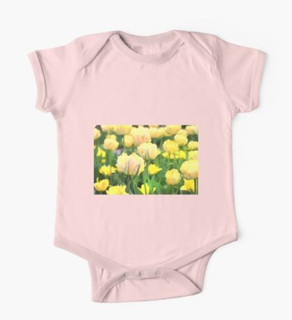 Yellow Tulips One Piece - Short Sleeve